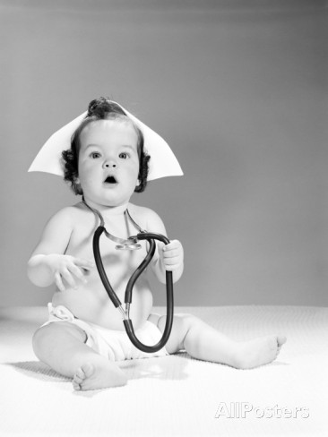 h-armstrong-roberts-baby-wearing-nurse-s-hat-and-stethoscope