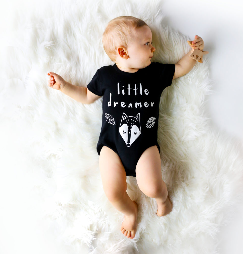 little-dreamer-black-organic-bodysuit-onesie